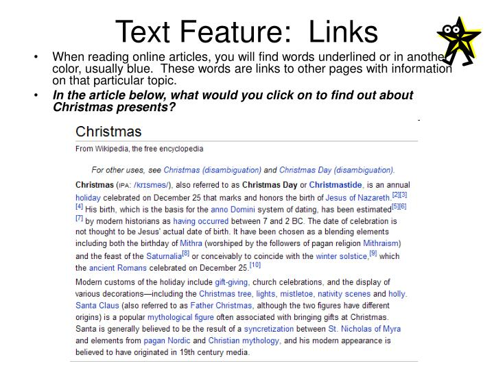 Text Feature:  Links