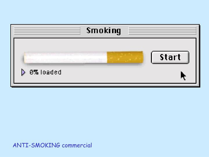 ANTI-SMOKING commercial