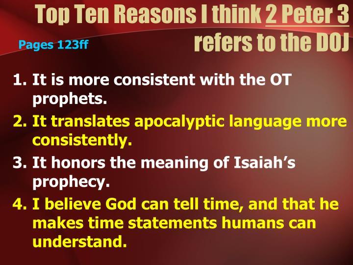 Top Ten Reasons I think