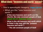 what does heavens and earth mean16