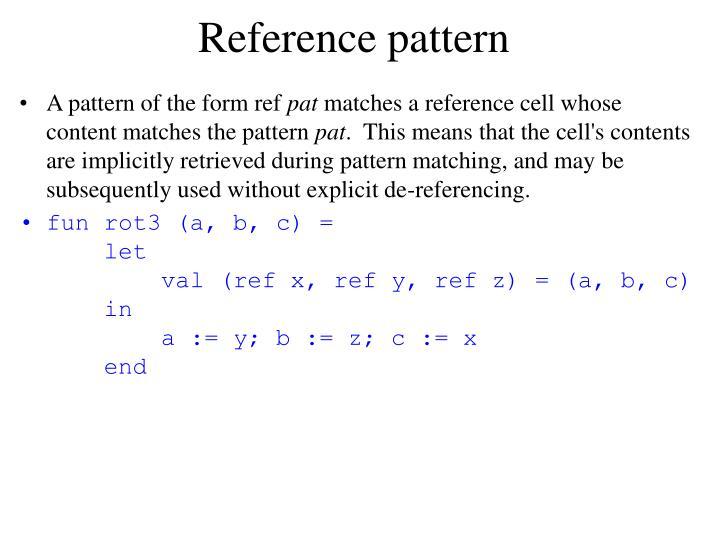 Reference pattern