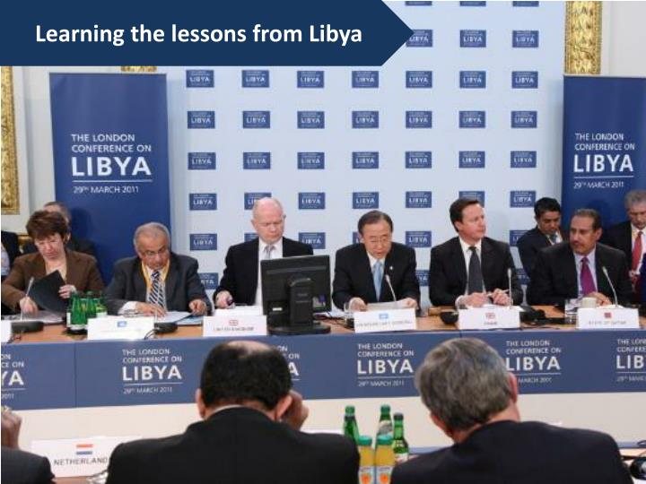 Learning the lessons from Libya