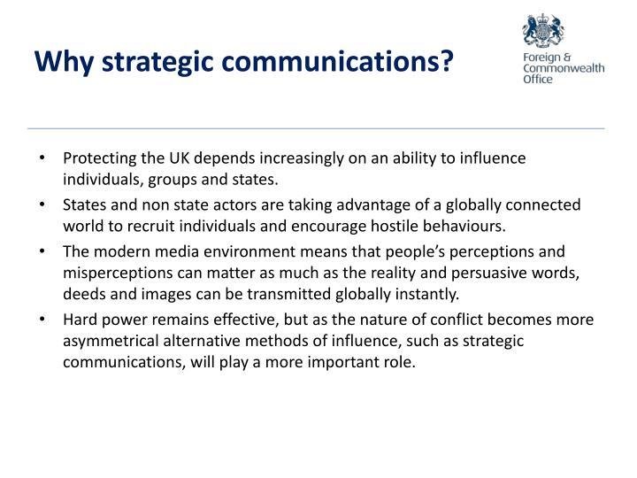 Why strategic communications?