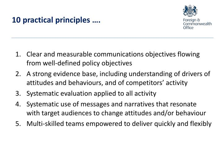 10 practical principles ….