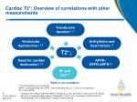 cardiac t2 overview of correlations with other measurements