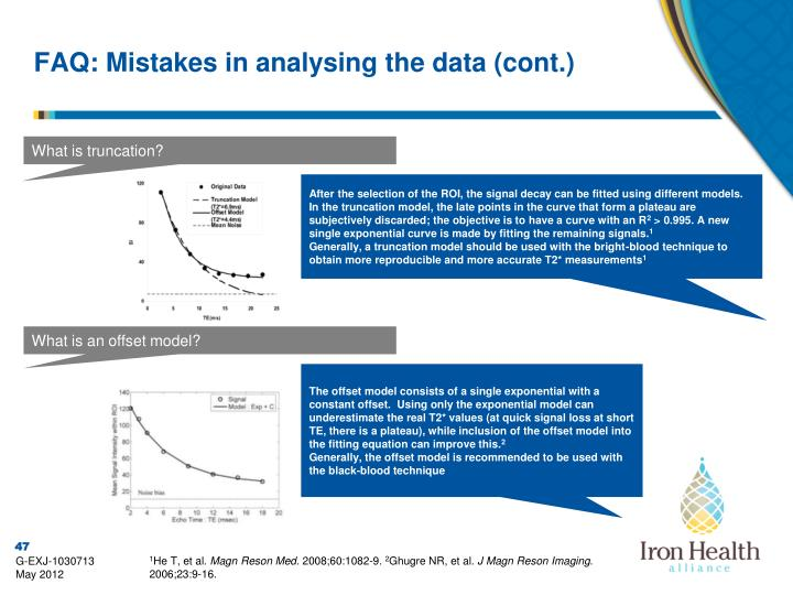 FAQ: Mistakes in analysing the data (cont.)