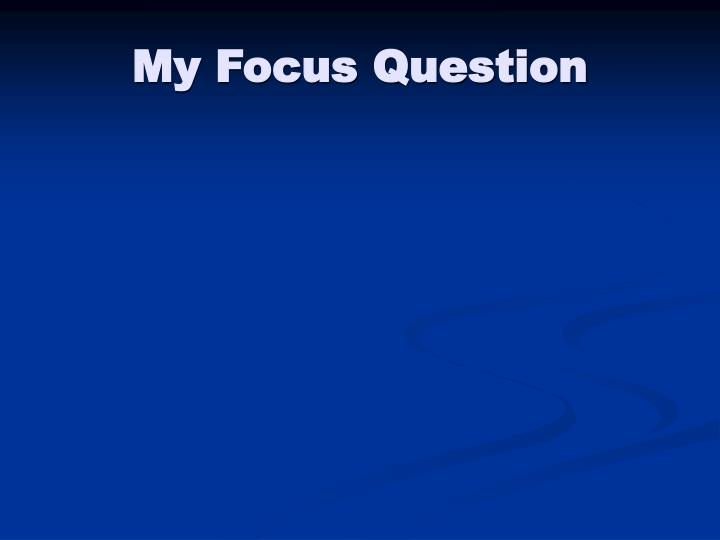 My Focus Question