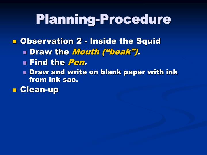 Planning-Procedure