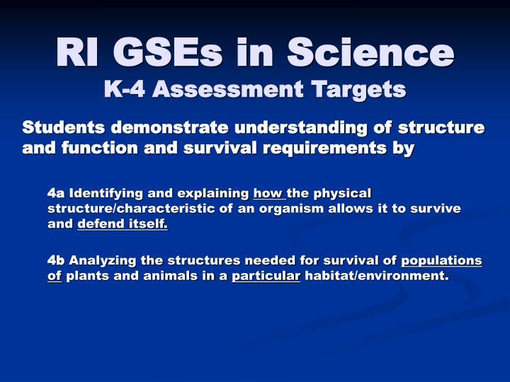RI GSEs in Science