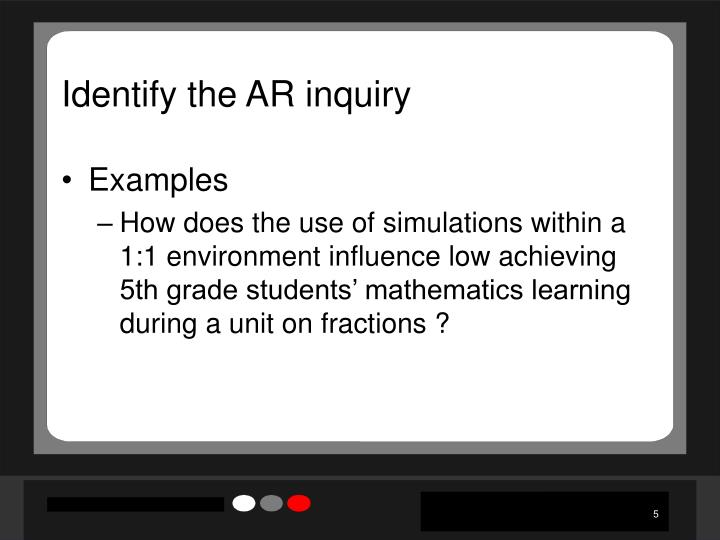 Identify the AR inquiry
