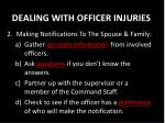 dealing with officer injuries1