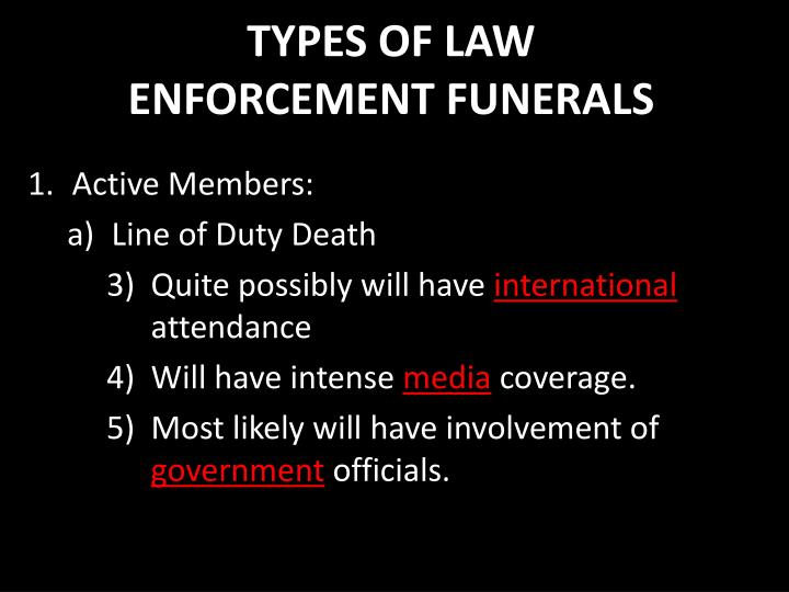 TYPES OF LAW