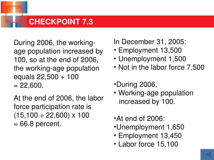 During 2006, the working-age population increased by 100, so at the end of 2006, the working-age population  equals 22,500 + 100