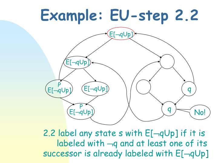 Example: EU-step 2.2