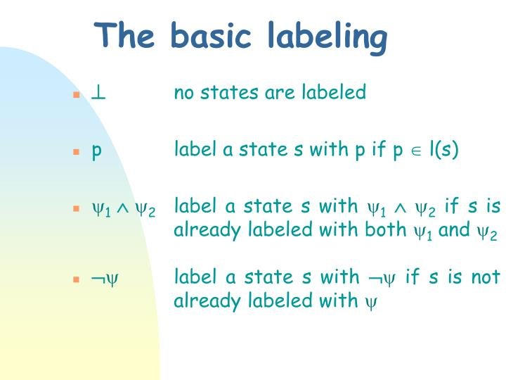 The basic labeling