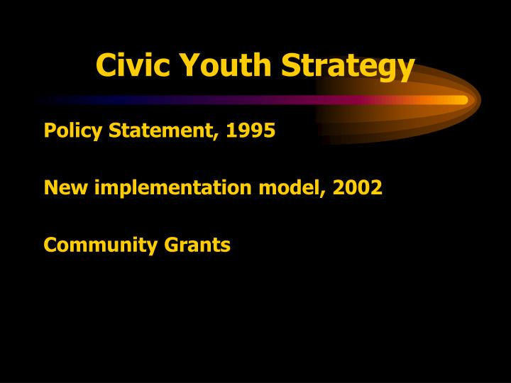 Civic Youth Strategy