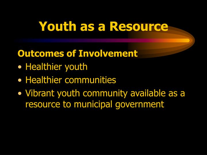 Youth as a Resource