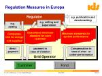 regulation measures in europa