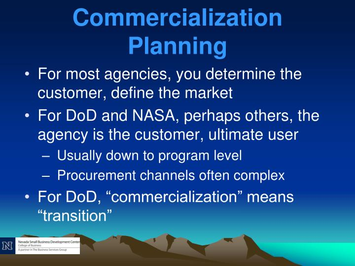 Commercialization Planning
