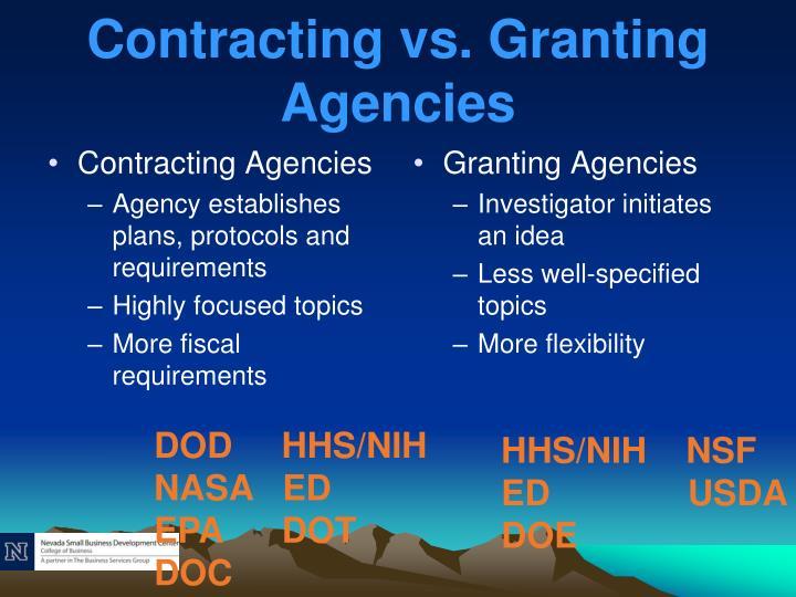 Contracting Agencies