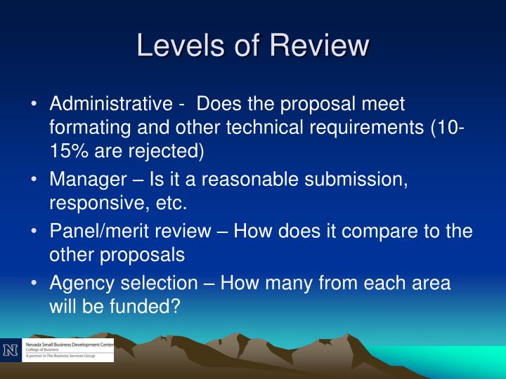 Levels of Review