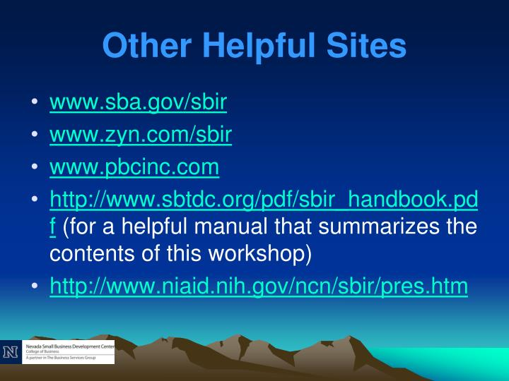 Other Helpful Sites
