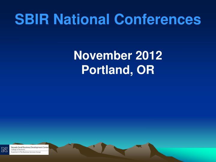 SBIR National Conferences