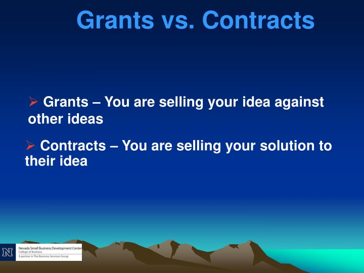 Grants vs. Contracts