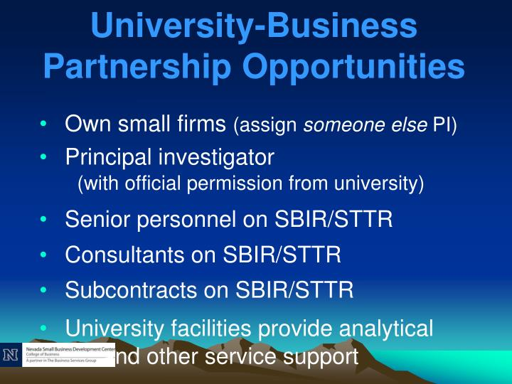 University-Business Partnership Opportunities