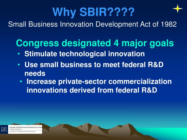 Why SBIR????