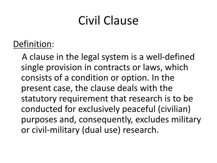 Civil Clause