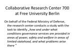 collaborative research center 700 at free university berlin