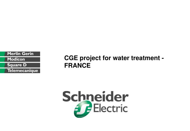 CGE project for water treatment - FRANCE
