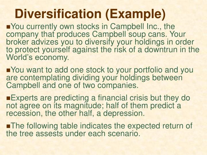 Diversification (Example)