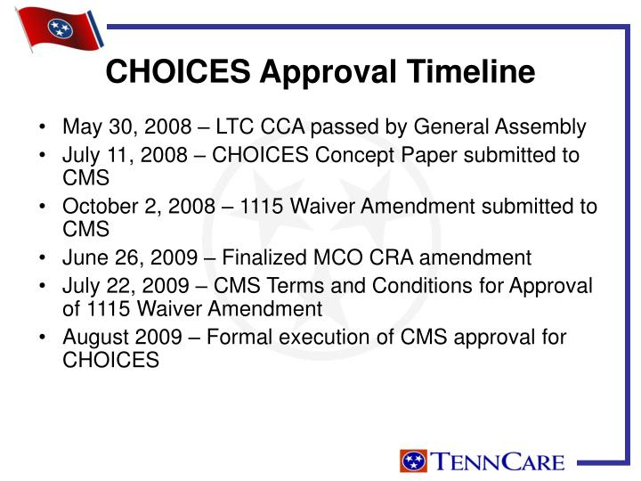 CHOICES Approval Timeline