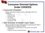 consumer directed options under choices