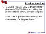 provider inquiries1