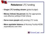rebalance ltc funding