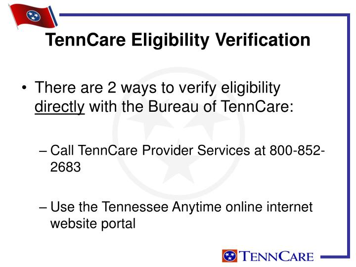 There are 2 ways to verify eligibility