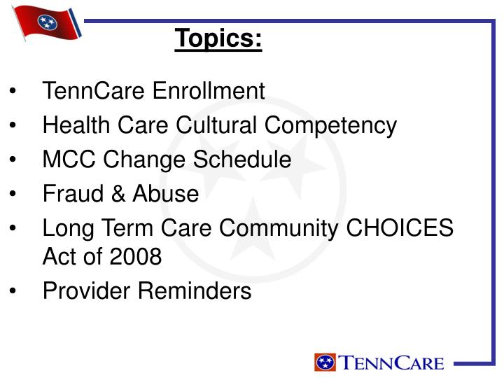 TennCare Enrollment
