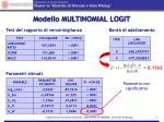 modello multinomial logit
