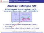 modello per le alternative flat1