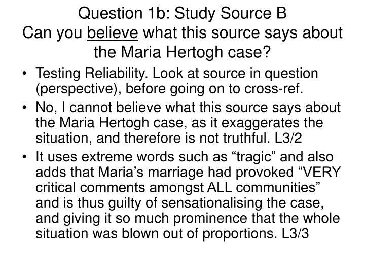 Question 1b: Study Source B