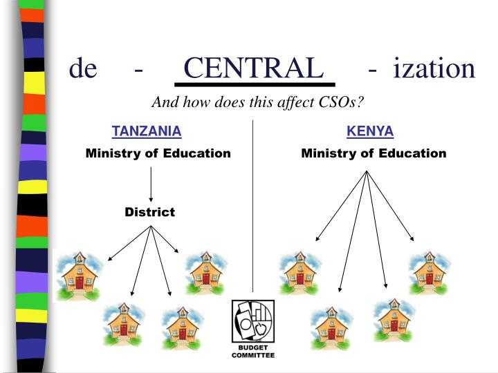 de  -  CENTRAL-  ization