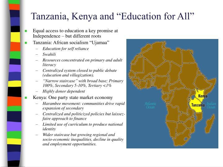 """Tanzania, Kenya and """"Education for All"""""""
