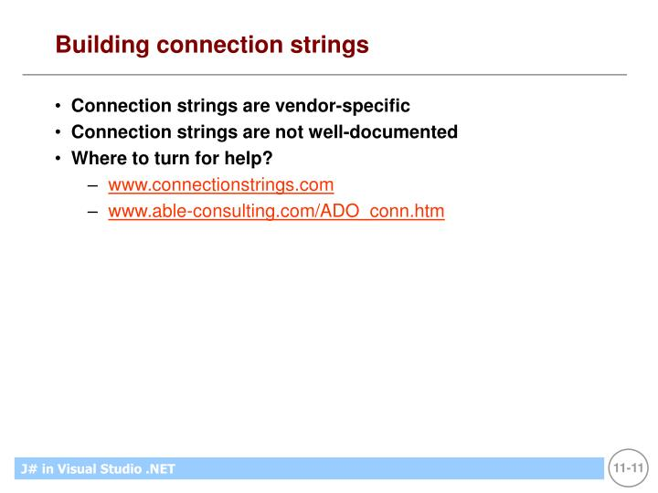 Building connection strings