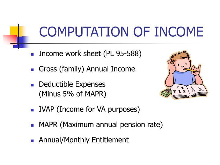 COMPUTATION OF INCOME