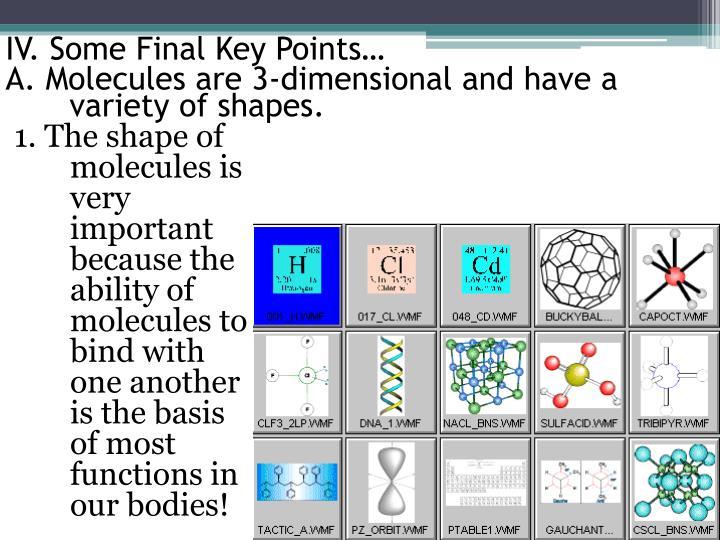 IV. Some Final Key Points…