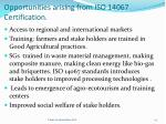 opportunities arising from iso 14067 certification