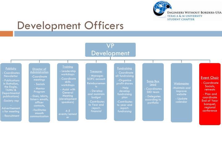 Development Officers